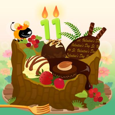 11歳ケーキ!